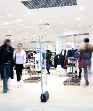 Shoppers in a store